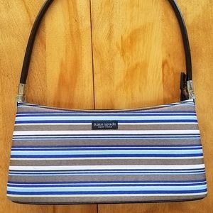 Kate Spade Blue/Grey Striped Purse